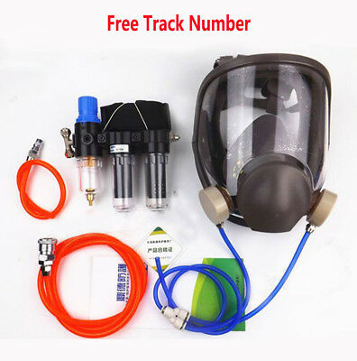 3 in 1 Painting Spray Supplied Air Fed Respirator System 6800 Full Face Gas Mask