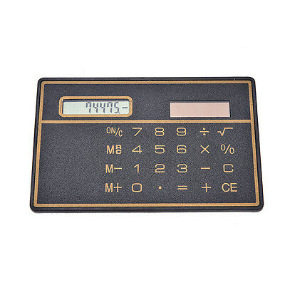 Mini Credit Card Solar Power Pocket Calculator Novelty Small Travel Compact  YJ