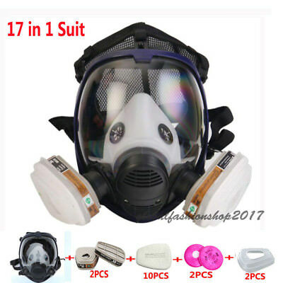 17 in 1 Safety Painting Spray Same For 3M6800 Gas Mask Full Face Respirator