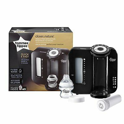 Tommee Tippee Closer to Nature Black Perfect Prep Machine NEW