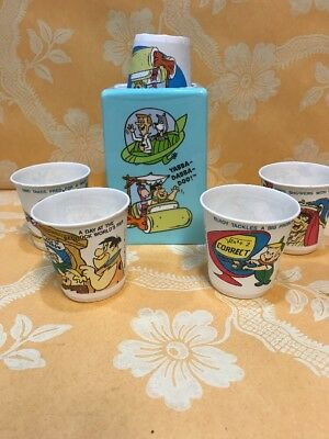 Vintage Dixie Cup The Flinstones  & The Jetsons Pop Up Dixie Cup Holder NOS