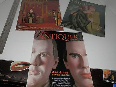 Lot of 3 The Magazine: Antiques Feb 2006 April & August 2008 back issues