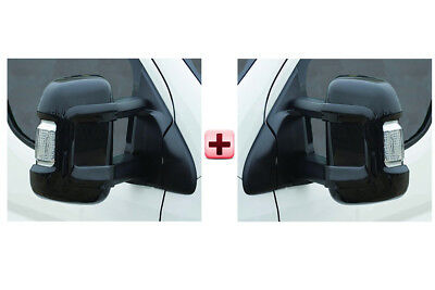 Peugeot Boxer Door Mirror Casing PROTECTOR Protective Cover BLACK LONG Pair 2006