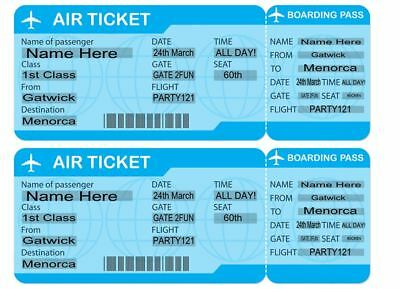 Luggage Labels Passports Boarding Pass Edible Icing Cake Topper Decor