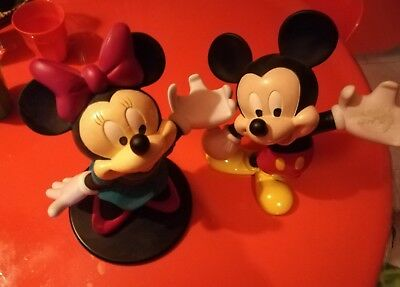 Coppia action figure Micky mickey mouse topolino Minnie Disney resin statue
