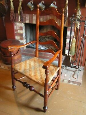 18Th Century Delaware River Valley Ladder Back Chair