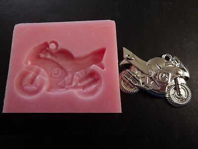 Motorbike Bike Vehicle Motorcycle Silicone Mould Sugarcraft Cake Decorating