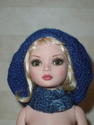 Handcrafted Slouch Doll Hat  & Infinity Scarf Tonner Ellowyne Amber Lizette