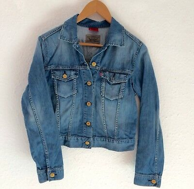 Retro Levi's Red Tab Blue Unisex Grunge Jacket Coat Rare 6 7 8 Y