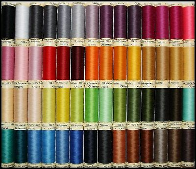 Gutermann Sew All 100% Polyester Cotton Sewing Thread 100M Spools Machine Hand