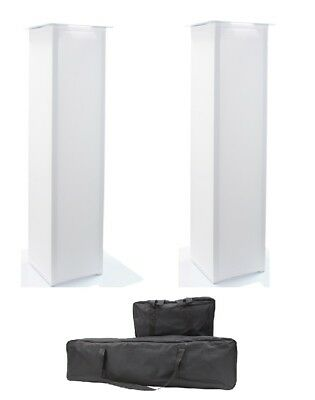 2x Equinox 1.5M DJ Plinth Moving Head Podium Package With Bags Stand Package