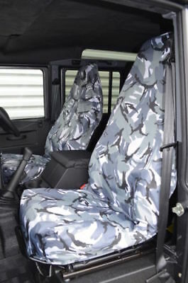 Hobby750 Lhd Motorhome Grey Camouflage Heavy Duty 1+1 Seat Covers