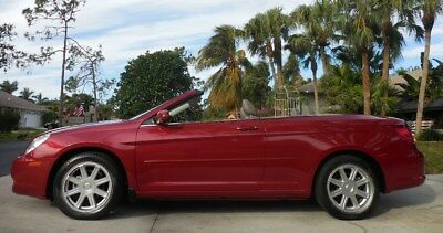 2008 Chrysler Sebring TOURING CONVERTIBLE~SHARP RED-TAN HEATED LEATHER FLorida Rust Free Gem~IL/FLA CONDO CAR~CERTIFIED CARFAX~Canvas Top~Fun 09 10 11