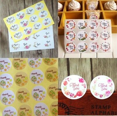 Thank You Stickers Floral Flower Stickers Tree Beautiful Pretty