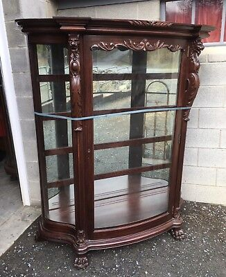 Carved Mahogany Griffin China Cabinet, R. J. Horner