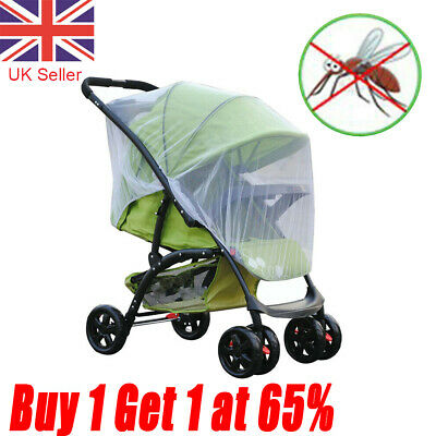 Baby Stroller Pushchair Mosquito Net Buggy Cover Pram Fly Insect Protector UK