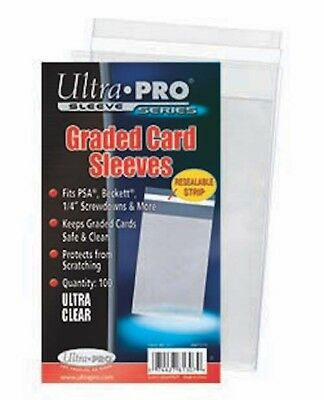 Ultra Pro PSA Graded Card Sleeves Resealable (100 Sleeves)