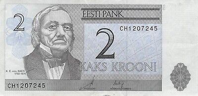 Estonia 2 Krooni, 2007 Circulated