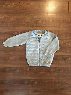 zara toddler boy gray zip up sweater 2-3y