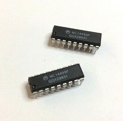 MC14499P (2 pcs) 7-Segment LED Display Decoder/Driver w/ Serial Interface 18PDIP