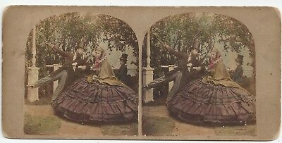 Stereo Stereoview Tinted Genre Mysteries of Crinoline Krinoline London 1850er