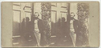 Stereo Stereoview (The Messenger?) 1850er