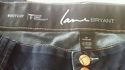 Lane Bryant Jeans Tighter Tummy Tuck Technology boot cut stretch Womens Sz 20