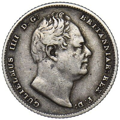 1835 Sixpence - William Iv British Silver Coin - Nice