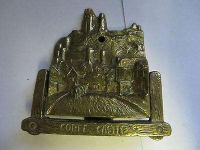 "2.75"" x 3"" ""CORFE CASTLE"" Brass Antique English Door Knocker"