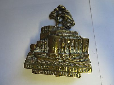 """The New Shakespeare Memorial Theatre"" Brass Antique English Door Knocker"