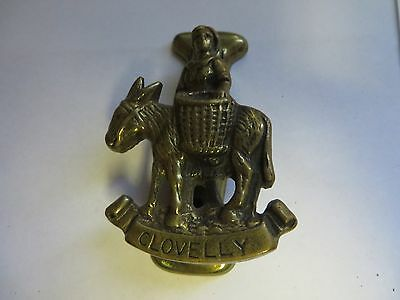 """CLOVELLY"" Brass Antique English Door Knocker"
