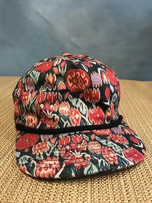 BRIXTON SUPPLY SNAPBACK Hat Cap Colorful Flowers 94ca9d923fe