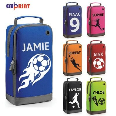 Personalised Football Boot Bag Customised Kids School PE Sports Gym Shoe Kit