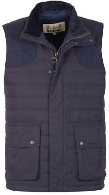 NWT Barbour Men's Navy Quilted Bradford Vilet Vest Jacket Size XL Extra Large