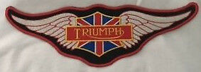 Embroidered cloth back  patch ~ Triumph wings ~ Vintage ~