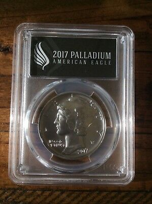 2017 1 oz Palladium American Eagle MS-70 PCGS (FS, Black Label) 1 OF 500