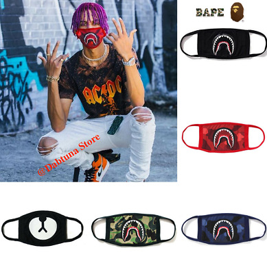 A Bathing Ape mask panda mask bape camo mask red blue ayo and teo  Face mouth