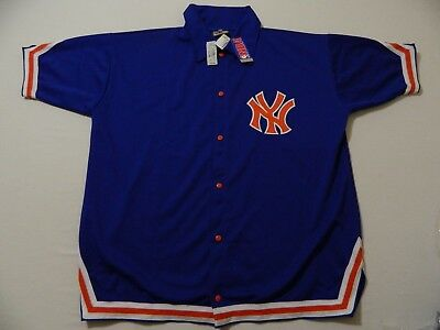 M74 New MITCHELL   NESS New York Knicks Snap Front Warmup Jacket Jersey  MEN S 54 ccb9e8eaf
