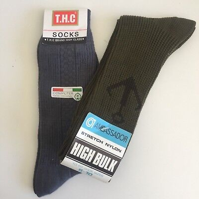 AMBASSADOR Vintage Socks Stretch NYLON & THC Grey Socks
