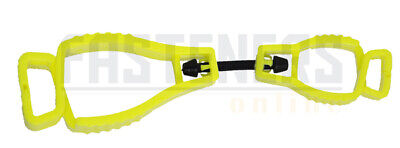 5pcs - Yellow Glove Safety Clip, Also suitable for Hats, Glasses etc...