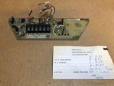 Southwest Microwave Transmitter Board Assy 02D11939-A03 for 310B-33259T Detector