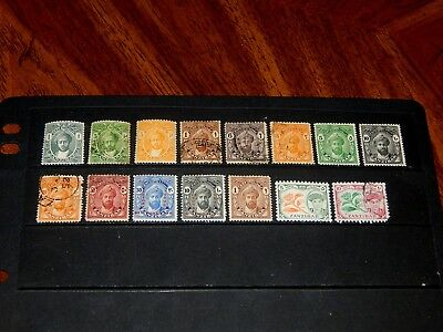 Zanzibar stamps - 15 mint hinged and used early stamps - super !!