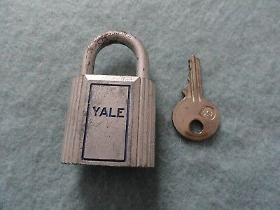 Vintage Made in USA YALE Padlock Lock with Key - Works