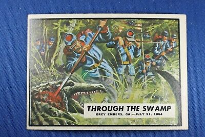 1962 Topps Civil War News - #73 Through The Swamp - Excellent Condition