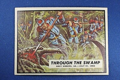1962 Topps Civil War News - #73 Through The Swamp - Excellent++ Condition