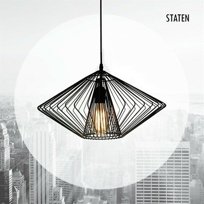 Staten Light Pendant - Black Metal Wire Pendant Light Fitting