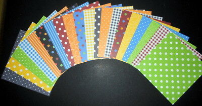 20 Colourful PRIMARY BASICS ~ 15cm x 15cm ~ (6 X 6) Scrapbooking/Cardmaking