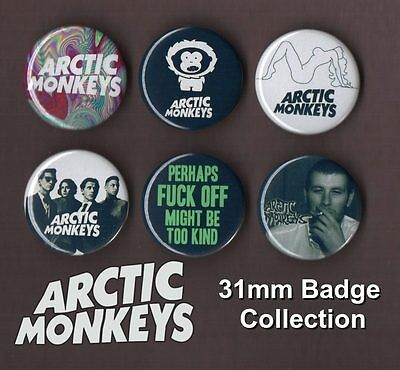 The Arctic Monkeys 31mm Badge Collection Set 2 Alex Turner FREEPOST