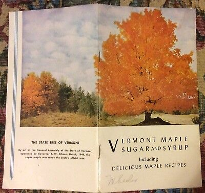 Vt Maple Sugar & Syrup Pamphlet 1961 Vermont Department Of Agriculture Recipes