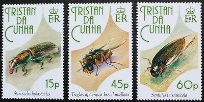 Insects stamps, 1993, Tristan da Cunha, SG ref: 539-541, 3 stamp set, MNH